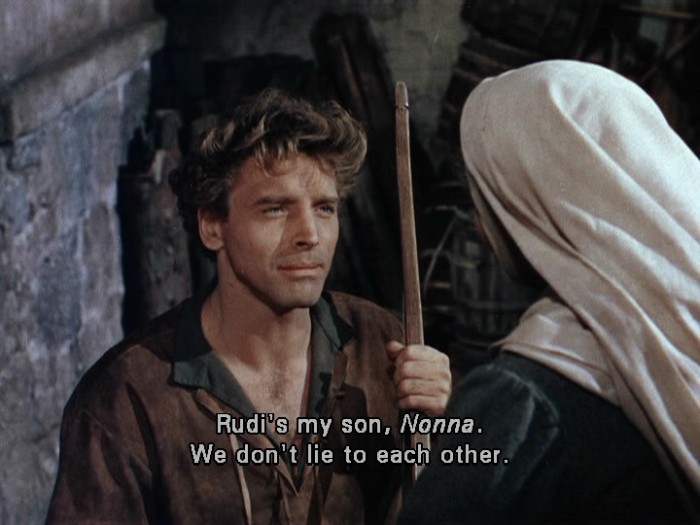 The flame and the arrow, 1950