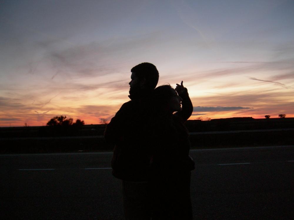nunha autoestrada, de noite