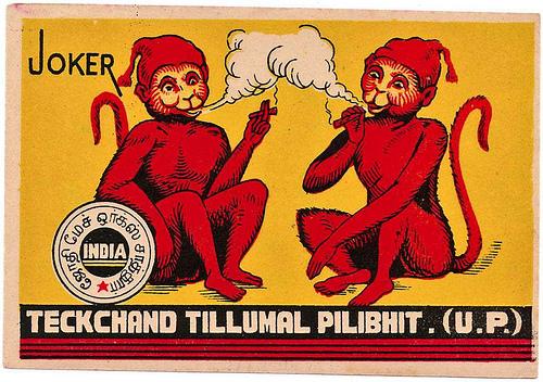 monos fumando